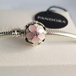 Pandora Openwork Pink Magnolia Flower Charm